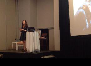 Valerie Sargent presents EQ information at Puerto Rico event