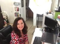 Valerie Sargent prepares for a live client webinar
