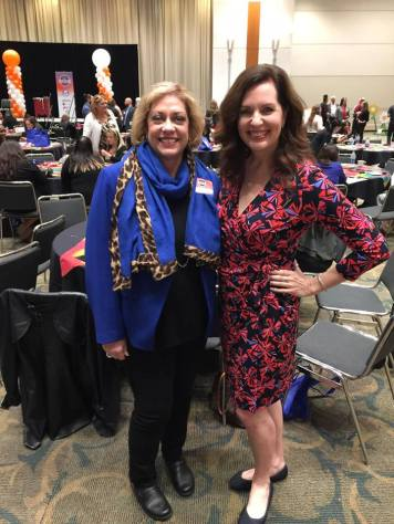 Valerie Sargent and Sherry Jordan at AATC LEAD conference 2017