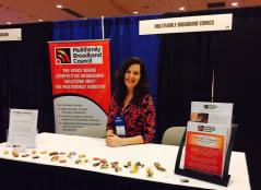 Valerie Sargent represents Multifamily Broadband Council at industry summit